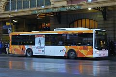 5484 AO, Flinders Street, Melbourne, September 14th 2016 (Southsea_Matt) Tags: 5484ao 110 route605 scania l94ub volgren cr228l cdcmelbourne flindersstreet melbourne victoria australia canon 80d sigma 1850mm september 2016 spring bus omnibus vehicle passengertravel publictransport