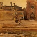 John Singer Surgent. Campo dei Frari, Venice. The Corcoran Gallery of Art. thumbnail