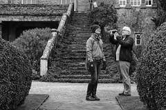 Jodie two-way portrait (timnutt) Tags: sizergh sizerghcastle cumbria 35mm children garden xt2 bw acros monochrome lancashire mono fuji fujichrome family blackandwhite 35f2wr fujifilm