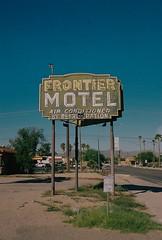 Frontier Motel, Tucson Arizona (dirtyfromtherain) Tags: 35mm film streetphotography kodakportra kodak tucson arizona canon motel
