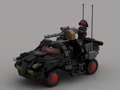 M2 Corporate SUVs Upgraded (demitriusgaouette9991) Tags: suv lego military army ldd armored powerful future whitebackground vehicle lmg gunner