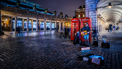 The power of music (Jim Nix / Nomadic Pursuits) Tags: aurorahdr2018 coventgarden england englishphonebooth europe jimnix london luminar2018 macphun nomadicpursuits skylum sony sonya7ii uk unitedkingdom landmark musician night nightlife travel