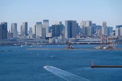 Tokyo waterfront skyscrapers (yama_kou) Tags: tokyo bay water skyscraper buiding