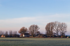 The day starts cold in Hoogland (jan.vd.wolf) Tags: amersfoort eempolder hoogland winter utrecht nederland nl polder boerderij farm boom bomen tree
