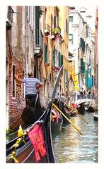 Venice traffic jam..... (nigethorpe) Tags: venice color colour colourphoto colourful canondigital canonpowershot superzoom canonsx30 sx30 canonpowershotsx30 canonsuperzoom powershotsx30 italy snapseed waterway canal gondola gondolas venicecanal venezia canale