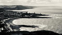 Aberystwyth (emiliano.bertocchi) Tags: aberystwyth wales town sea landscape black white