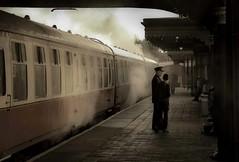 The guard. (AlbOst) Tags: scottishrailwaypreservationsociety trains steam steamtrains railways stations stationplatforms bygonedays yesteryear srps boness filmlocations movielocations