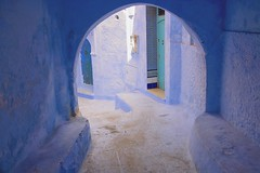Blue moroccan arches (maios) Tags: chefchaouen morocco bluemoroccanarches blue moroccan arches africa nikon d7100 nikond7100 maios door wall