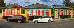 New Orleans Colors (davidwilliamreed) Tags: 3 colorful houses vivid color pano panorama iphone
