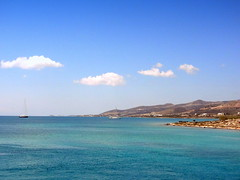 Antiparos Coast (dimaruss34) Tags: newyork brooklyn dmitriyfomenko image sky clouds greece antiparos aegeansea water mountains coast yacht