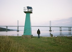 Out to Sea, Inverness, November 2015 (Mano Green) Tags: inverness scotland uk kessock bridge beauly firth sea highlands sky water autumn 2015 november 35mm film canon eos 300 40mm lens fuji superia 400