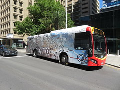Scania bus 1831 on Grenfell St (RS 1990) Tags: adelaide southaustralia november 2018 city scania bus indigenous aboriginal art wrap grenfellst