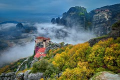 Ως θυμίαμα ενώπιόν Σου As an incense in front of you (Dimitil) Tags: meteora kalambaka kastraki thessaly trikala greece hellas unesco uwh unescoworldheritage monuments religion christianism orthodoxy monastery cloister celebration saints fog misty nature autumn trees clouds sky rocks tradition architecture monachism bestcapturesaoi elitegalleryaoi