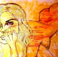 Annette (franck.sastre) Tags: miroir art miradas femme painting dulzura dibujo picture