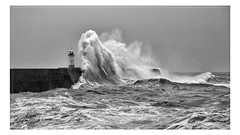 Stormy Seas at Newhaven (angeladj1) Tags: newhaven sussex lighthouse harbour wall sea waves stormy