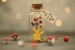 Pokemon, Pikachu , Pokeball, Tiny message in a bottle,Miniatures,Personalised Gift,love,Valentine Card,Gift for her/him,Girlfriend gift, birthday card, message card and funny card ideas (charles fukuyama) Tags: christmas xmascard ornament handmadecard custommade unique cute art homedecor deskdecor lovecard holidaydecor greetingscard paper seasonalcard partygift personalizedgift longdistancegift birthdaygift kikuikestudio clay miniatures cartoons characters christmasdecor flowers