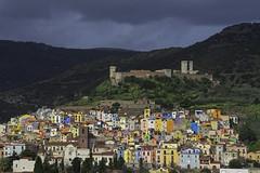 in contrasto (Paolo Dell'Angelo (JourneyToItaly)) Tags: bosa provinciadioristano sardegna italia panoramica colours westcoast sardinia italy dramaticsky serravallescastle