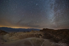 A Single Geminid and Andromeda in Death Valley (Marsha Kirschbaum) Tags: nightsky deathvalleynationalpark milkyway sonya7s 2018geminidmeteorshower stars northernmilkyway andromeda california ©marshakirschbaum