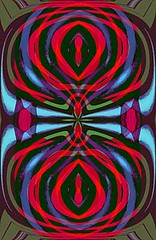 Parallel Space (Kombizz) Tags: c497 kombizz kaleidoscope experimentalart experimentalphotoart photoart epa samsung samsunggalaxy fx abstract pattern art artwork geometricart red blue green darkgreen parallelspace wovencolors