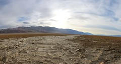 1140 It looks like a river of salt running down the center of Death Valley, from the West Side Road (_JFR_) Tags: camping hiking deathvalley deathvalleynationalpark westsideroad salt