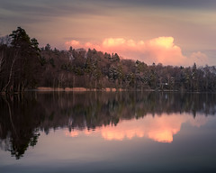 Nature reflection (hjuengst) Tags: reflection reflektionen see lake steinsee wolken clouds forest wald trees bäume ebersbergerland bavaria bayern