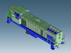 BNLSSM002 (3Dbuildr) Tags: staatsmijnen locomotief sm 151 152 153 154 155 ns 2900