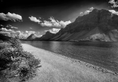 Untitled (RogelSM) Tags: lake mountain sky bw nature landscape canadianrockies banff icefieldsparkway outdoor