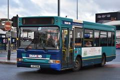 'Diamond' Dennis Dart SLF '21001' (JJZ 5248) (K.L.Jenkins) Tags: diamond dennis dart slf 21001 jjz5248 westbromwich bus station
