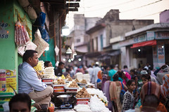 Sweets Overview (thomas.pirolt) Tags: takumar smc india vrindavan goverdhan photography streetphotography street streetlife sony a7 a7ii m42 50mm 14 art people light old portrait