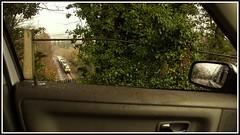 'Through the Volvo Window' (peterdouglas1) Tags: directrailservices class68 68018 vigilant caterpillar vossloh llandygai northwalescoastrailway valleyflasks fnas 6d43