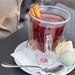 Fruit tea with a cinnamon stick
