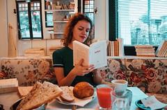 Breakfast at Ha(a)ïtza (nais.03_anais) Tags: breakfast hotel book reading tea coffee cozy warm winter vibe indigo livre french morning sunday weekend british portrait