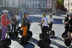 Segway Tour (AntyDiluvian) Tags: sweden stockholm 2013 june2013 church steeple riddarholm riddarholmskyrka segway tour allfemale allgirl allwoman germanspeaking