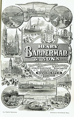Henry Bannerman & Sons Ltd., cotton spinners, manufacturers & merchants, Manchester; advert 1897 (mikeyashworth) Tags: henrybannermansonsltd manchester lancashire cheshire cotton cottonindustry bury rochdale preston wigan clitheroe accrington canalbarge canaltransport chemicalindustry stalybridge ancoats dukinfield spinning weaving docks shipping advertising coalmining publicity engraving 1897 mikeashworthcollection illustratedadvert cottonplants rochdaletownhall