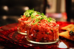 Beef tartare. (corineouellet) Tags: delish delicious tasty yummy good foodie foodies foodphoto food cook cooking plating beeftartare tartare beef