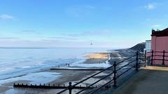 A winter's afternoon   Cromer   East Beach (rosberond) Tags: cromer norfolk seaside coast winter afternoon sea sky iphonexs gull