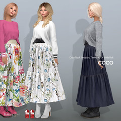 COCO New Release @ Fameshed (cocoro Lemon) Tags: coco newrelease fameshed secondlife fashion mesh skirt sweater belleza maitreya slink