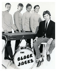 VINTAGE. THE BLACK JACKS. INFORMATION WELCOME.  SEE BELOW. (JOHN MORGANs OLD PHOTOS.) Tags: vintage found photo the black jacks information welcome bw british and white uk unusual unitedkingdom unknown unique interesting different johnmorgan