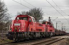 25_2019_02_06_Gelsenkirchen_Bismarck_1265_027_&_016_DB_mit_Brammenzug ➡️ Herne_Abzw_Crange (ruhrpott.sprinter) Tags: ruhrpott sprinter deutschland germany allmangne nrw ruhrgebiet gelsenkirchen lokomotive locomotives eisenbahn railroad rail zug train reisezug passenger güter cargo freight fret bismarck akiem cww db de eh erd nrail pkpc rpool 0275 0632 1202 1203 1265 1275 5370 6155 6185 6186 6187 6189 6193 9263 9425 lkw captrain dortmundereisenbahn sandzug abzwcrange dortmund bottropsüd dorsten logo natur outdoor graffiti