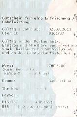 """Gutschein für eine Erfrischung zu Bahnfahrausweis Schweiz • <a style=""""font-size:0.8em;"""" href=""""http://www.flickr.com/photos/79906204@N00/32259565208/"""" target=""""_blank"""">View on Flickr</a>"""