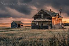 The Story Of A House (Stubble Jumper) Tags: abandoned alberta farm farmhouse sunset history homestead prairie