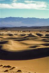 Mesquite Flat Sand Dunes, Death Valley NP (rocinante11) Tags: nikoncoolscan4000 deathvalley nationalpark california dvnp desert dunes sand sanddunes mesquiteflat film slidefilm fujiprovia