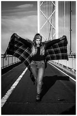 IMG_2061-Edit (Cauther Photography) Tags: model mono hat beautiful hair walking boots bridge scotland edinburgh queensferry pose fashion