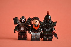 Black and Red and Angry (th_squirrel) Tags: lego dc comics bane red hood jason todd batman mother panic ares war god minifig minifigure minifigs minifigures