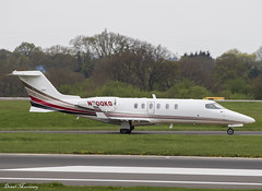 Florida Express Corp. Learjet 40 N700KG (birrlad) Tags: manchester man international airport uk aircraft airplane airplanes aviation bizjet private passenger jet learjet arrival arriving landing landed runway taxi taxiway n700kg 40 lj40 florida express corp