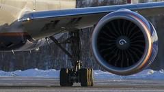 Aeroflot Boeing 777-300 VQ-BQD, missing panels on the left wing (Zhuravlev Nikita) Tags: boeing 777 boeing777 aeroflot uhpp spotting elizovo kamchatka