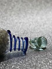 2018 Smile on Saturday: Bottleneck (dominotic) Tags: 2018 smileonsaturday bottleneck spiral glassbottle glitter bluespiral glass sydney australia