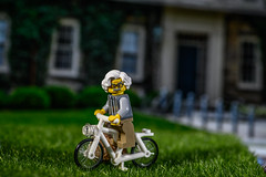 Einstein at Princeton University - Life is like riding a bicycle (Dotsy McCurly) Tags: 2dwf bicycles alberteinstein einstein princetonuniversity nj newjersey lego arttoy toy toyphotography nikonz7 mirrorless camera tokinaatxm100prod100mmf28macro handheld