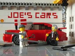 Tut das Not, dat dat so lange dauert? (captain_joe) Tags: werner holgi brösel comic porsche 911 auspuff kiel toy spielzeug 365toyproject lego minifigure minifig moc car auto 6wide