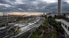 Oi Junction (B Lucava) Tags: tokyo oi junction expressway sky cloud railway city cityscape dusk 12mm samyang wideangle